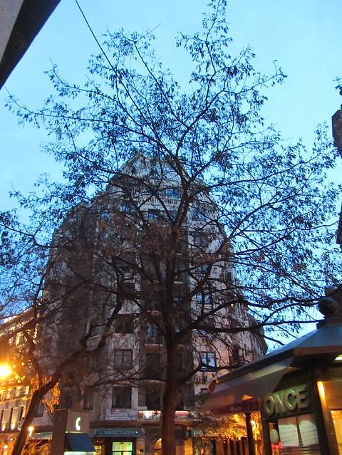 Edificio con árbol delante