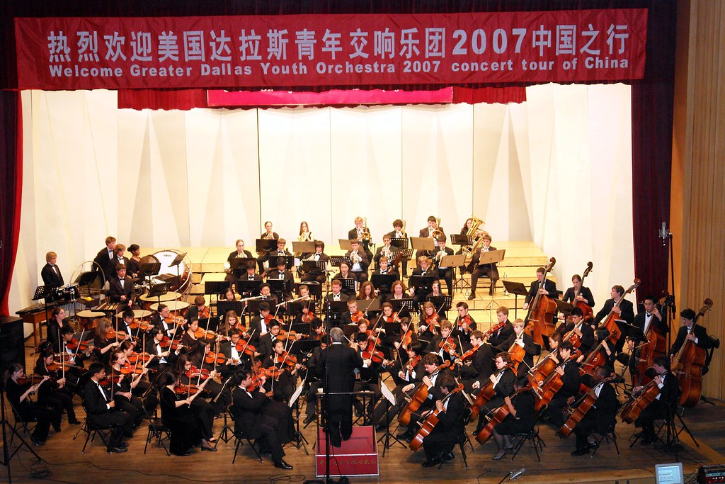 Greater Dallas Youth Orchestra performs in the Central Conservatory in Beijing