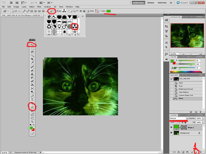 Зеленая виртуальная кошка 7054283277_ae5bc6c6a5_c