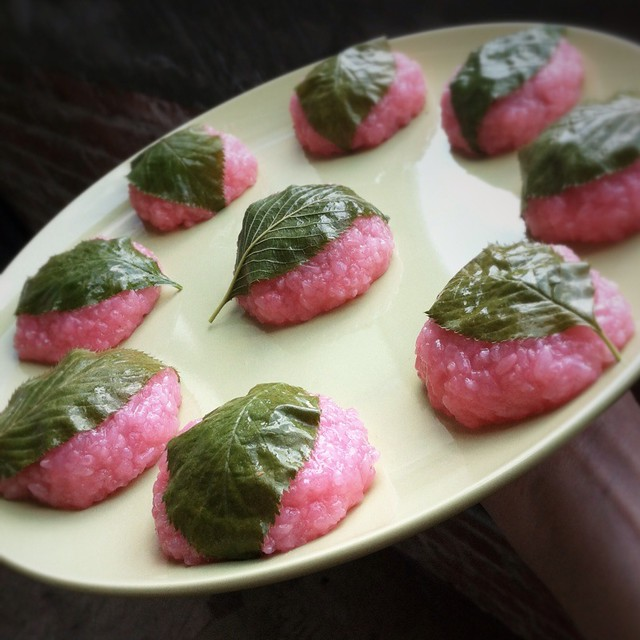 Sakura Mochi @ Foodspotting HQ | Hand made these from scratc ...
