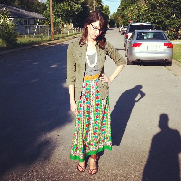 maxi skirt after