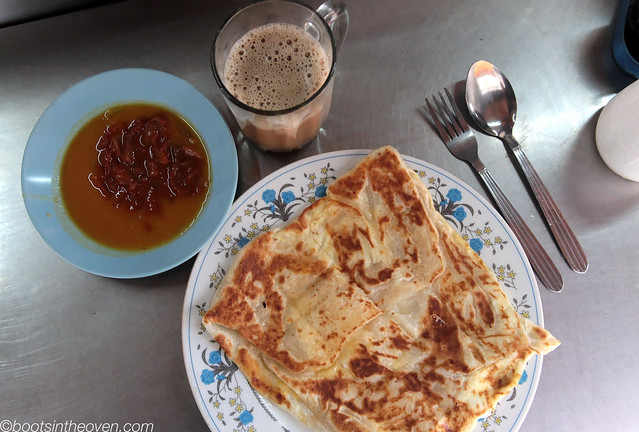 Roti Cennai and Teh Tarik from Pasar Pudu