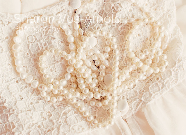 Lace & Pearl Heart