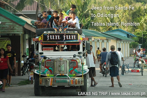 Jeep from Santa Fe to Odiongan, Tablas Island, Romblon