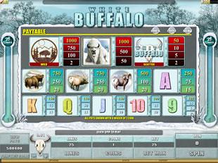 free White Buffalo slot payout