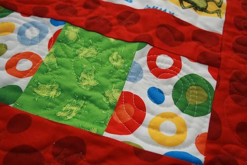 Dr. Seuss quilt - Lorax & spots