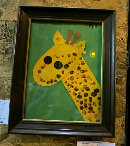 AAN 007 Giraffe by Layla age 4 - paint