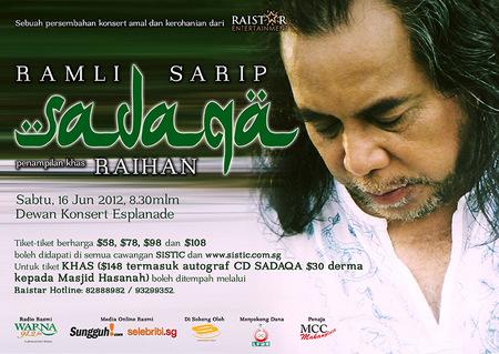 Ramli Sarip Berduet Dengan Raihan Untuk Konsert SADAQA