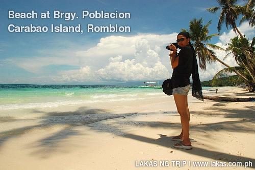 Beach at Barangay Poblacion, San Jose, Carabao Island, Romblon
