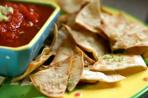 Baked Tortilla Chips, Healthy Junk Food
