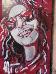 Roma Trastevere Alice Artwork (Self-Portrait) on Postal Box