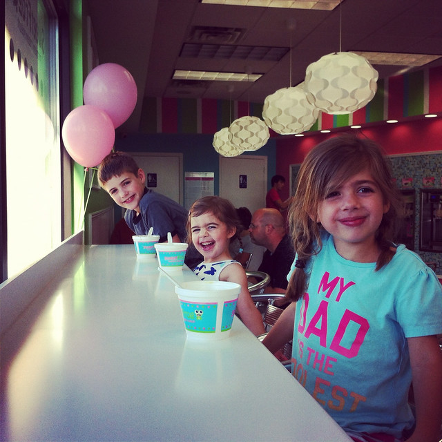 kids at sweet frog