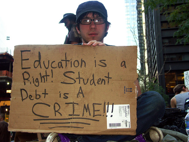 College Student Debt at OWS 10/9/2011