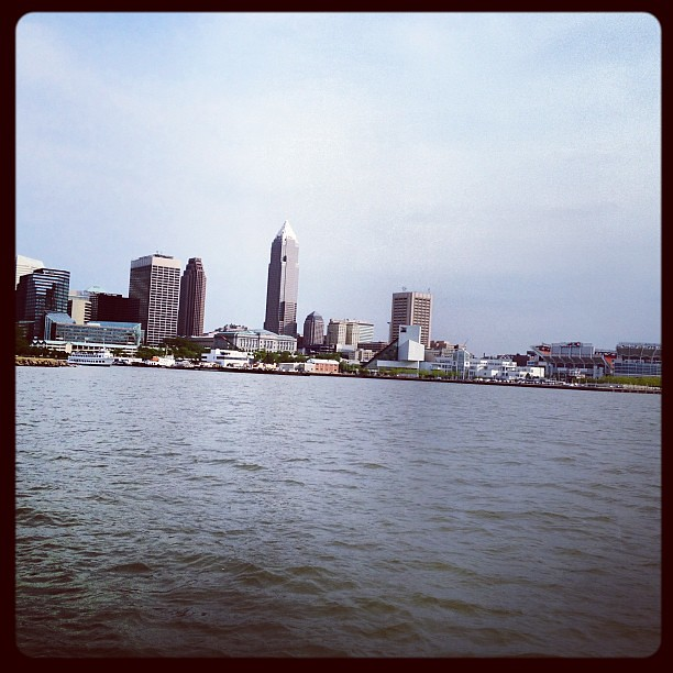 Cleveland from the water.
