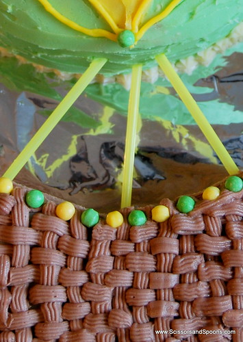 Hot Air Balloon Cake Detail