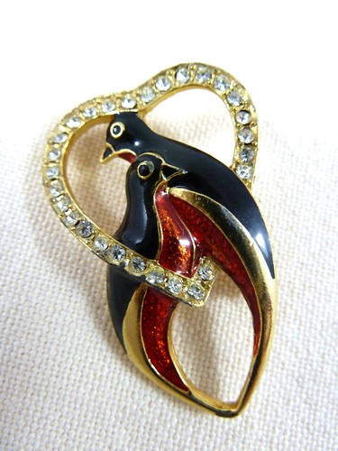 Sphinx Lovebirds Brooch