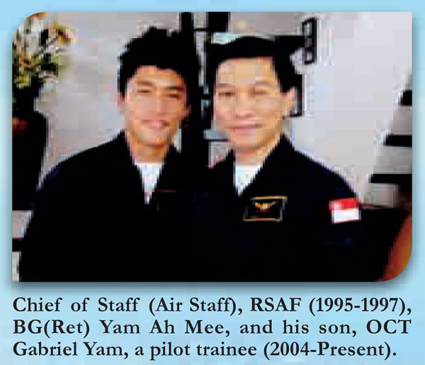 Yam Ah Mee and his eldest son, Gabriel Yam