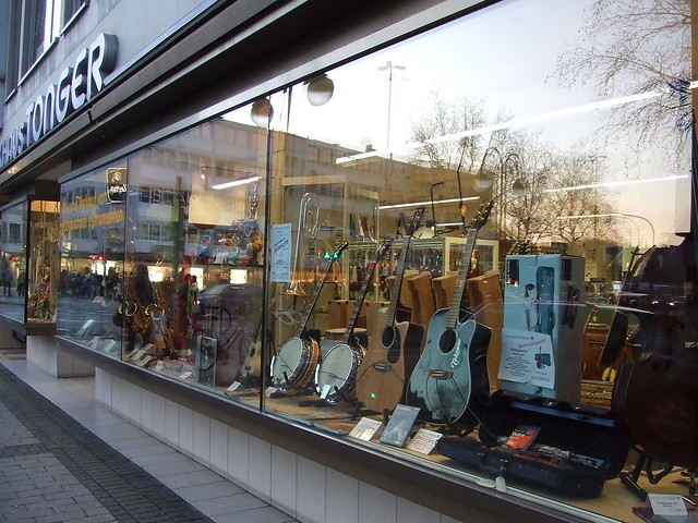 Musical instruments shop
