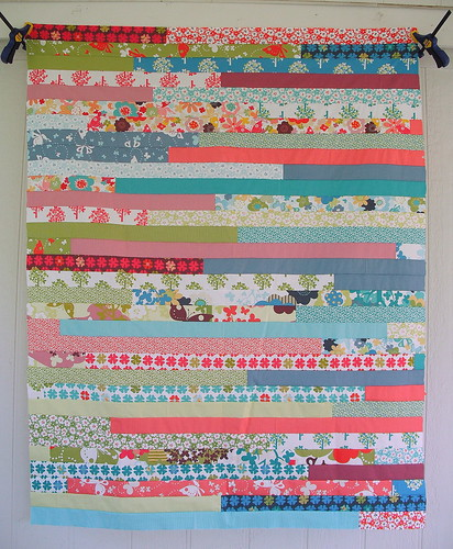1600 Jelly Roll Race Quilt Top by jenniferworthen