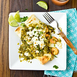Shrimp Tacos with Grilled Salsa Verde