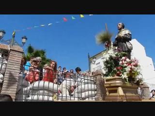 ofrenda de trigo de Antonio Cómitre en Periana Málaga procesión fiestas San Isidro Labrador 2012