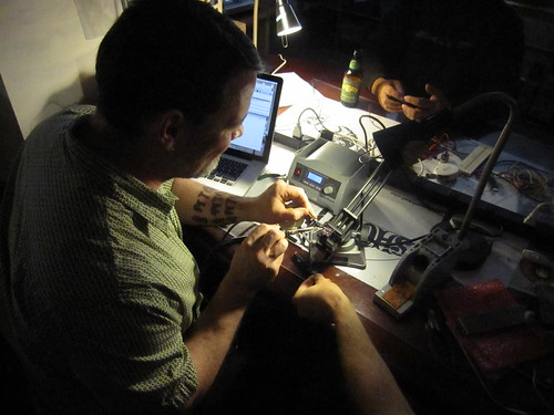 Al soldering an arduino clone