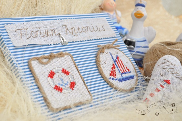 "Guestbook "" Little sailor "" - Carte de oaspeti "" Micul marinar """