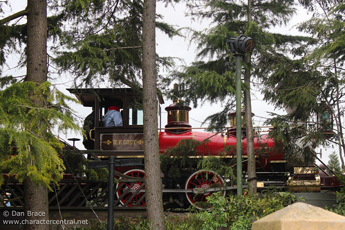 The W. F. Cody passes thru Fantasyland