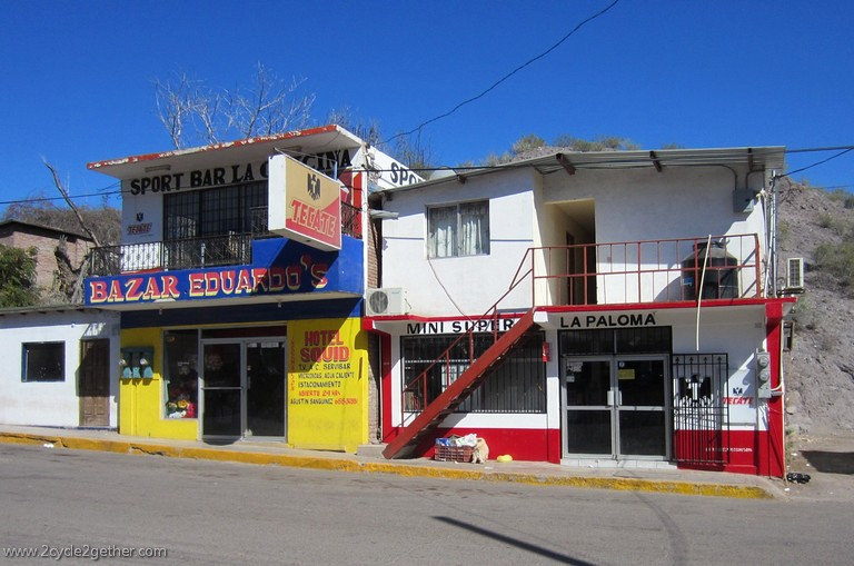 Businesses, on Mulege main street