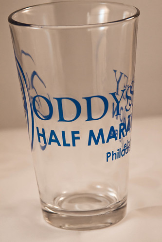 Oddyssey Half Marathon Pint Glass