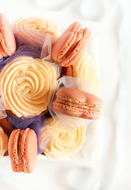 Macaron & Cupcake Bouquet