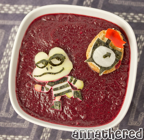 Non-bento #46: Beat Sneak Bandit beet soup