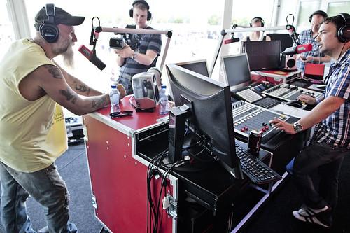 Pinkpop 2012 mashup foto - Seasick Steve bij Gerard in de studio