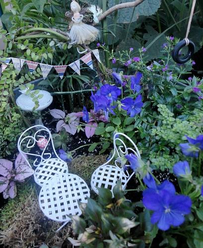 fairy garden at dusk