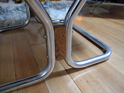 Westnofa Chair - chrome & walnut base