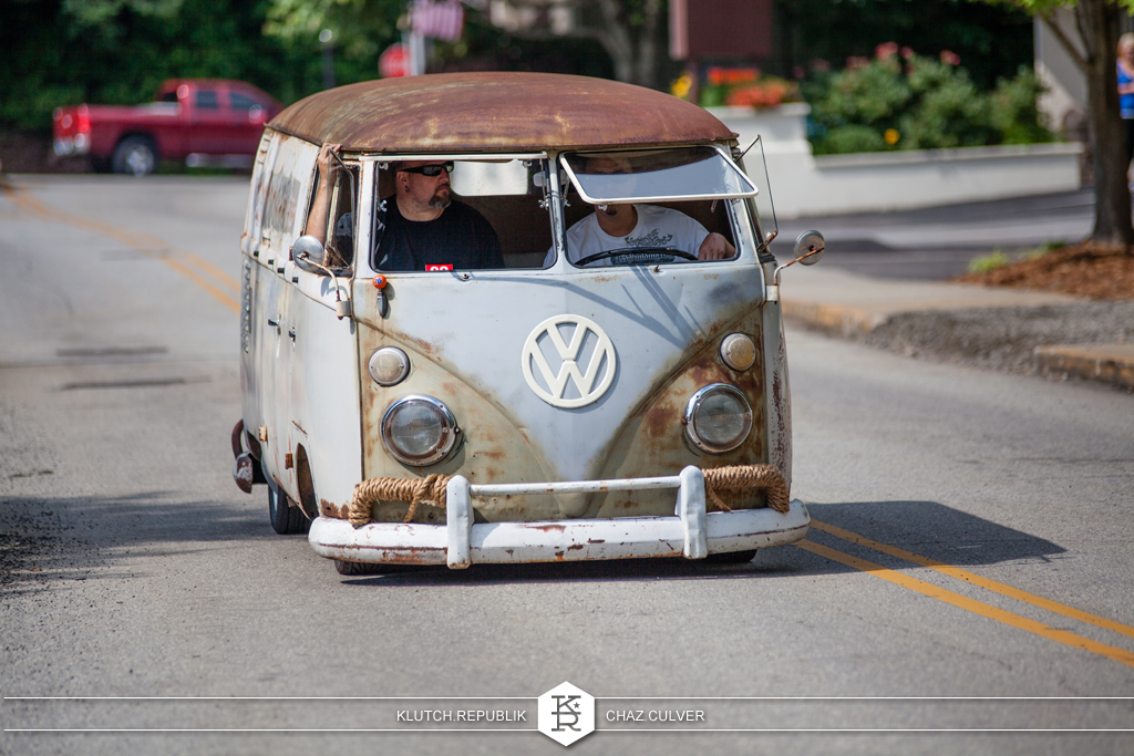 rusted vw bus at southern worthersee 2012