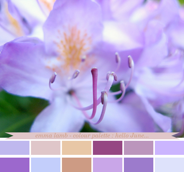 colour palette : hello June... by Emma Lamb