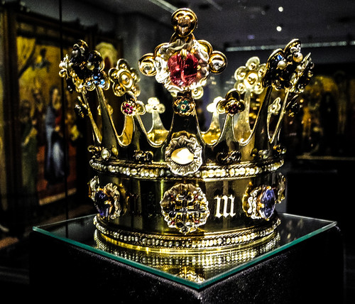 Crown of Margaret of York, 1461 n the Aachen Cathedral (Aachener Dom) Treasury - Aachen Germany by mbell1975
