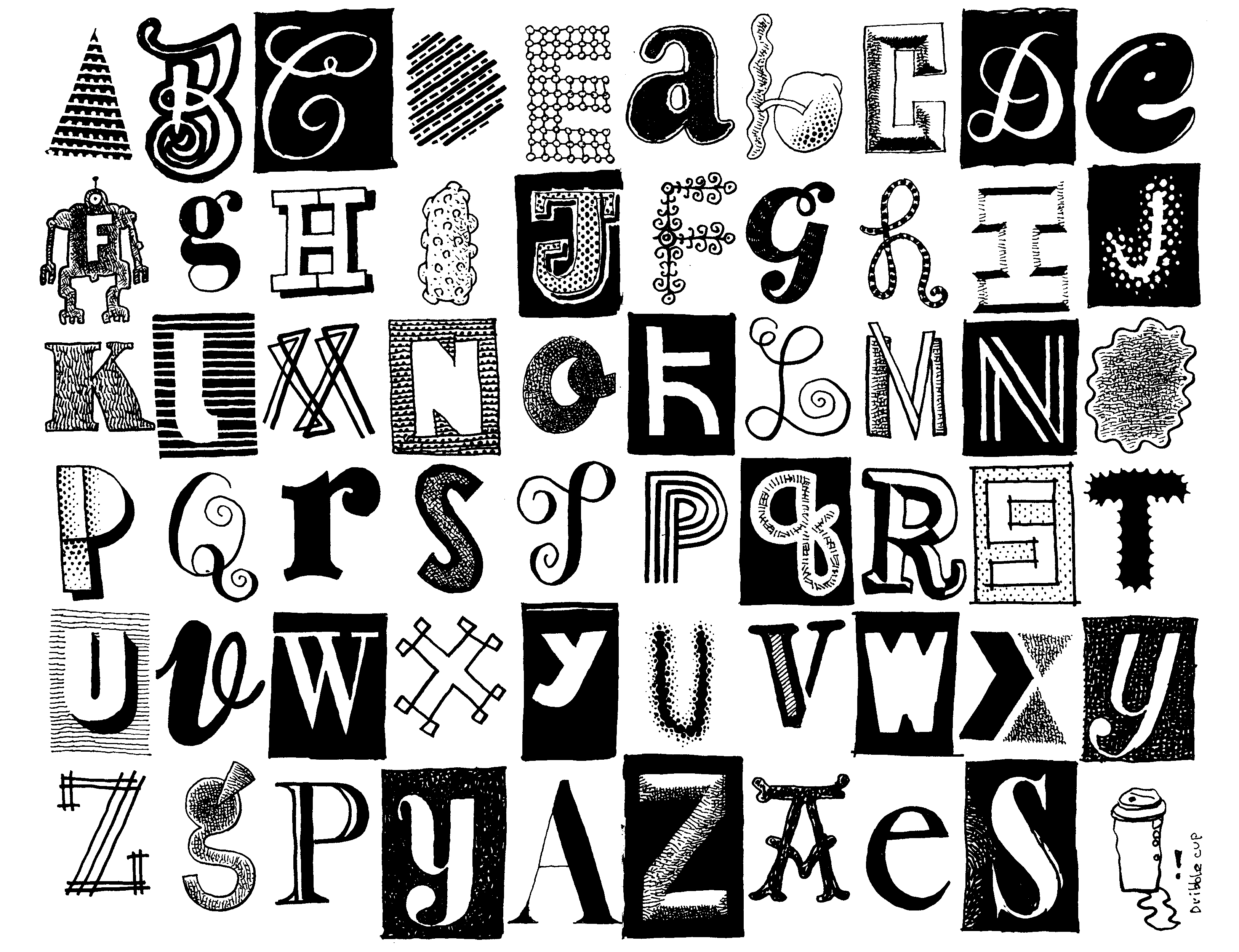 Cool letters to draw for cool alphabet letters