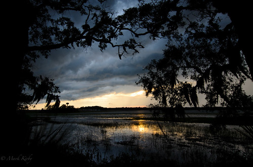 sunset usa sc river landscape marsh kiawahisland