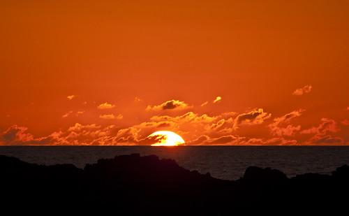[フリー画像素材] 自然風景, 朝焼け・夕焼け, 水平線, 風景 - アイルランド ID:201206080600