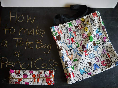 Readty, steady, SEW! Tote bag and pencil case tutorial
