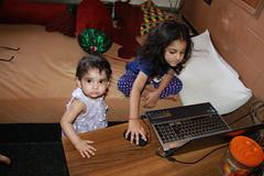 My Cyber savvy Grandchildren by firoze shakir photographerno1