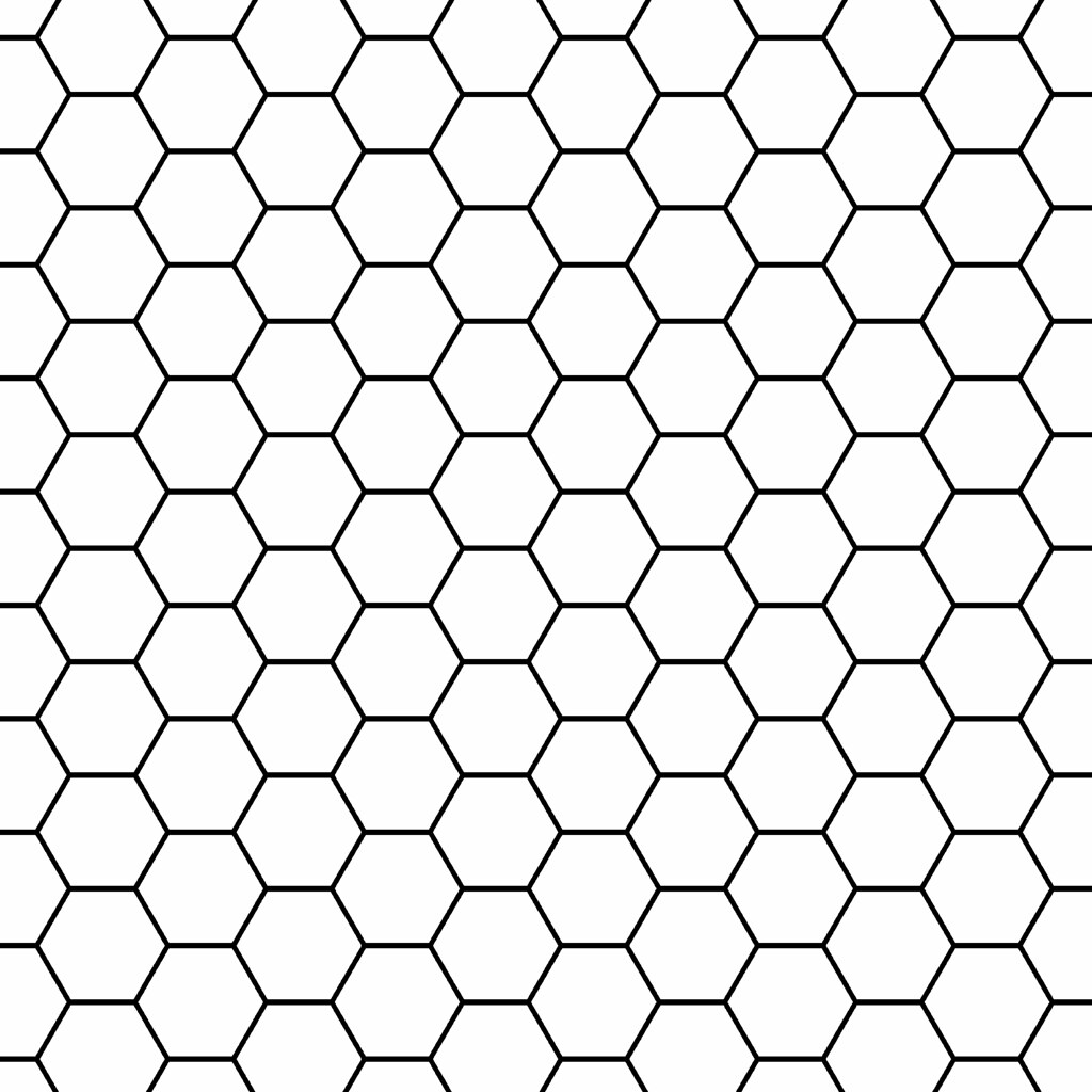 Overlay Large Hexagon Outline 12 And A Half Inch Sq 350dpi