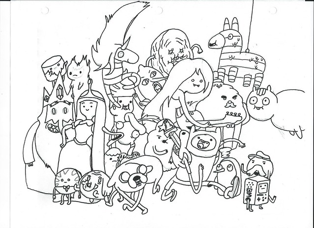 Adventure time coloring flickr photo sharing for Adventure time characters coloring pages