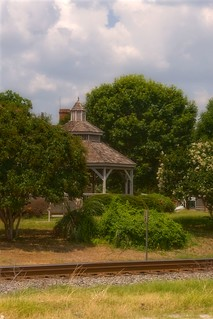 The Gazebo By The Railroad Tracks