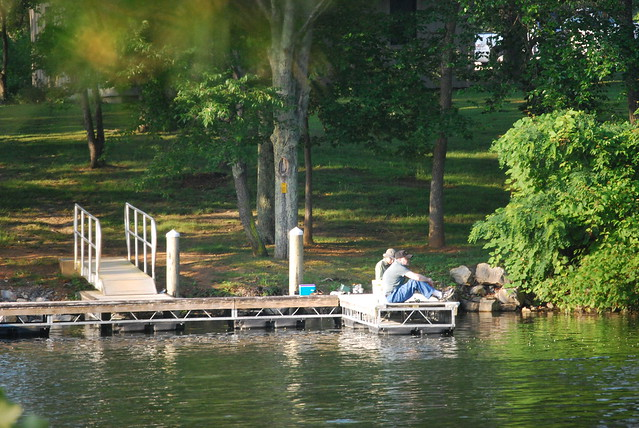 Cabin guests at Claytor Lake State Park have access to a dock for fishing, boating or just shooting the breeze!