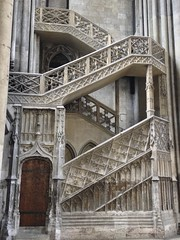 stairway in French cathedral