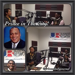 "Prince in The City! Just wrapped up my 8th show w/ @urbusinessnetwork. On today's show, my guests and I gave our #2cents on Immigration in the US today--while using the plug of day: ""I'm not hating; I'm just saying."" Then later on, I interviewed Motivatio"
