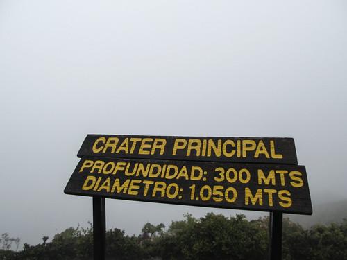 Volcan Irazu: nada ! Tout est dans le brouillard ;)